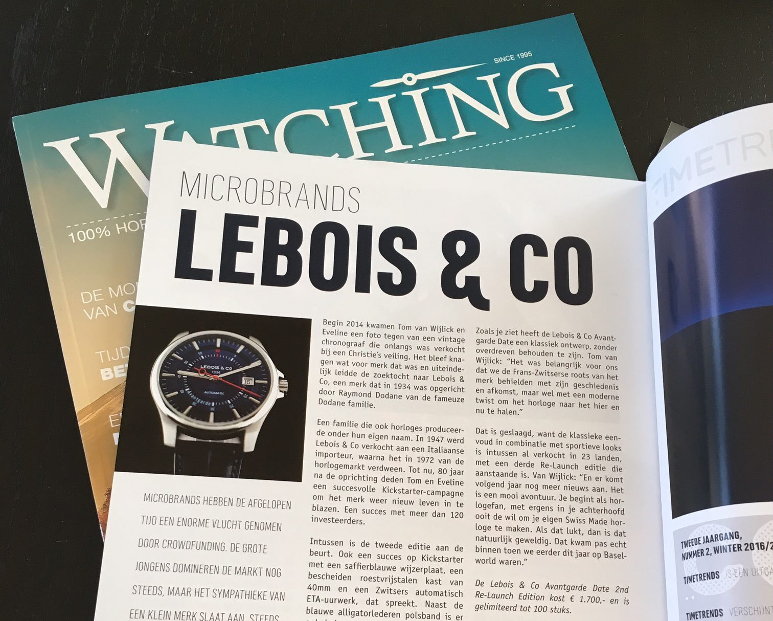 Lebois & Co in Dutch TimeTrends