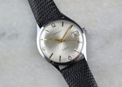 Lebois and Co 1960s Classic Three Hand Date NOS