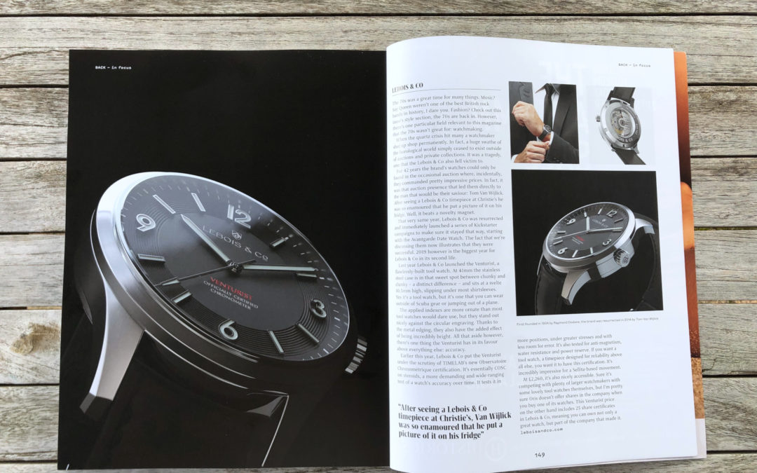 Lebois & Co in Oracle Time Magazine (UK)